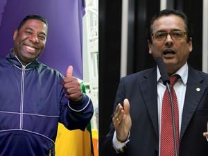 Netinho de Paula e Protógenes Queiróz (Foto: Deco Rodrigues/Ed. Globo e Luis Macedo/ Câmara dos Deputados)