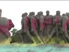 Monumentos em São Paulo amanheceram cobertos por tintas