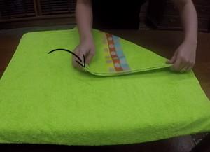 Aprenda a dobrar toalhas (Foto: Gshow)