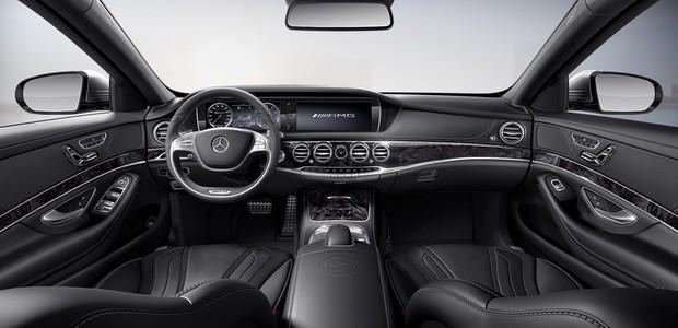 Interior do Mercedes S 63 L AMG (Foto: Divulgação)