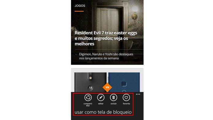 Veja, edite e envie o seu print do Nokia Lumia 520 (Foto: Reprodução/Murilo Molina)
