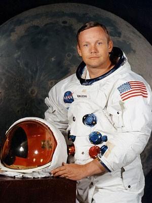 O primeiro homem a pisar na Lua, Neil Armstrong, em 1969. (Foto: Nasa)