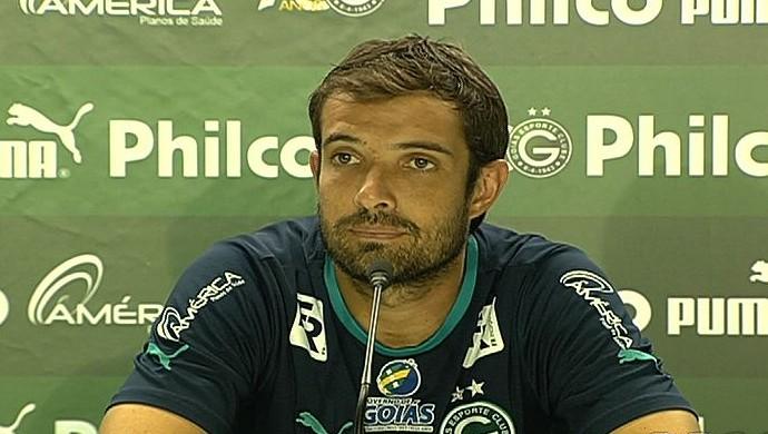 David, meia do Goiás (Foto: Reprodução/TV Anhanguera)