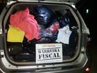 300kg de roupas sem nota fiscal são apreendidos na Dutra, em Itatiaia, RJ