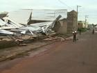 Tempestade deixa empresas e casas destelhadas na zona norte de Ribeirão