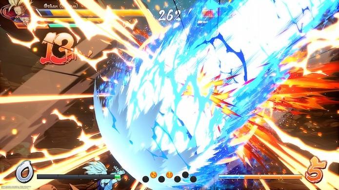 Dragon Ball FighterZ: jogabilidade simples torna combos acessíveis (Foto: Reprodução / Victor Teixeira)