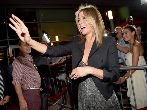 Jennifer Aniston em première de filme em Los Angeles, nos Estados Unidos (Foto: Alberto E. Rodriguez/ Getty Images/ AFP)