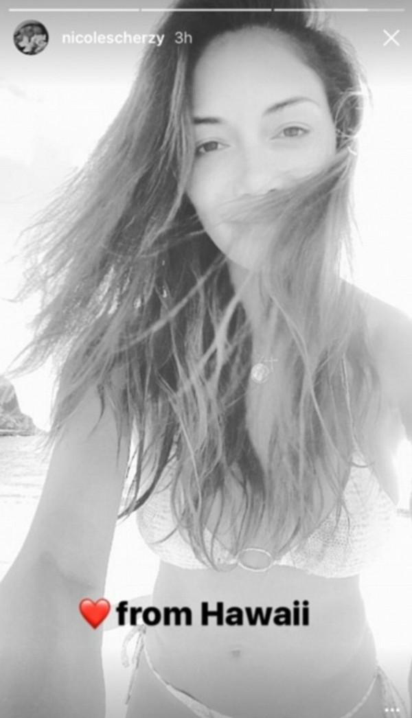 A modelo Nicole Scherzinger (Foto: Snapchat)