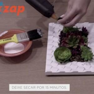 Aprenda a montar um quadro verde artificial (Reprodução ZAP)