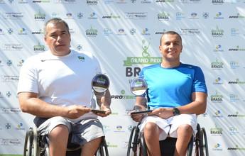 Tenistas da seleção de tênis para cadeirantes levam título em São José