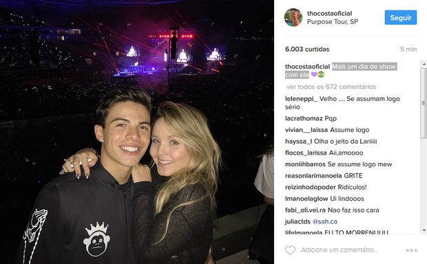 Thomaz Costa e Larissa Manoela (Foto: Reprodução/Instagram)