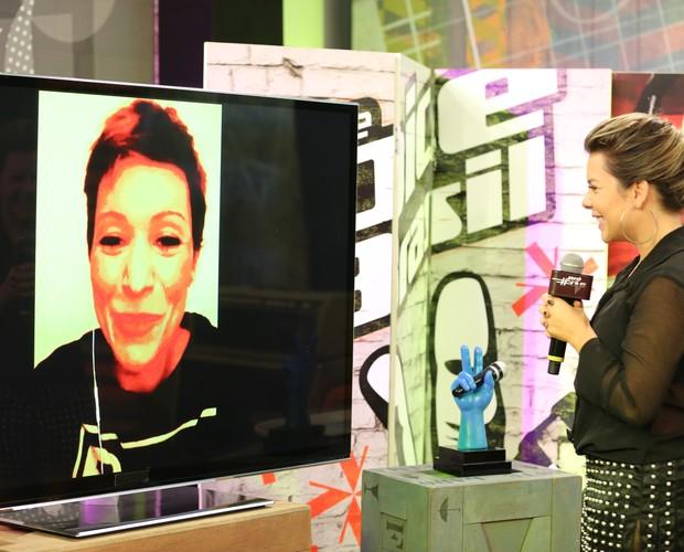 Patricia Marx participa do programa (Foto: Isabela Pinheiro/Gshow)