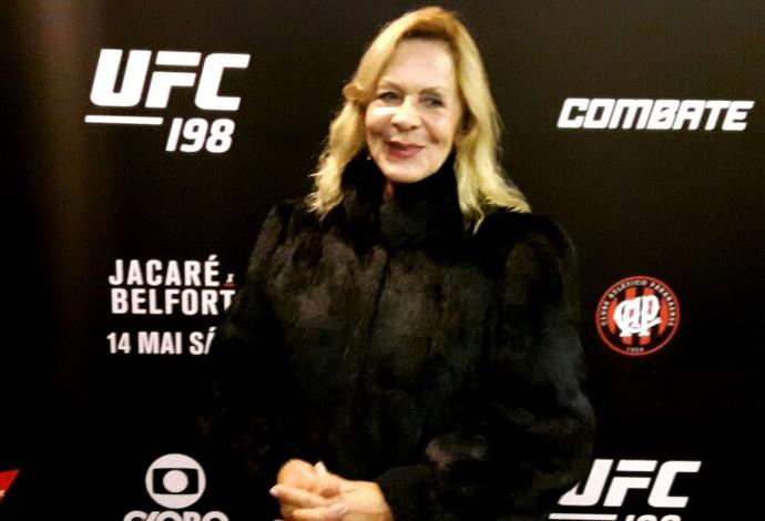 UFC Bersima Moraes, mãe da Cris Cyborg (Foto: Adriano Albuquerque)