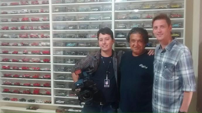 Colecionador vai mostrar todos seus carrinhos no Mistura (Foto: RBS TV/Divulgação)