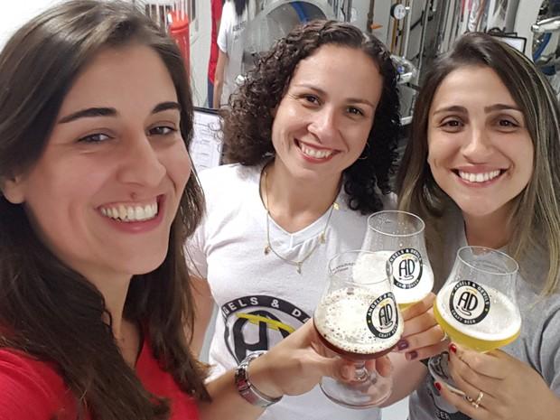 Mônica, Daniela e Priscila se juntaram para fundar a cervejaria Angels&Devils (Foto: Divulgação/Mônica Mendonça)