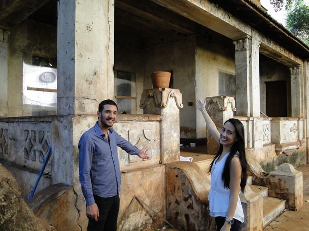 Irmãos Héctor e Ingrid Sominami adquiriram o palacete Jorge Lobato (Foto: Fernando Machado/ G1)