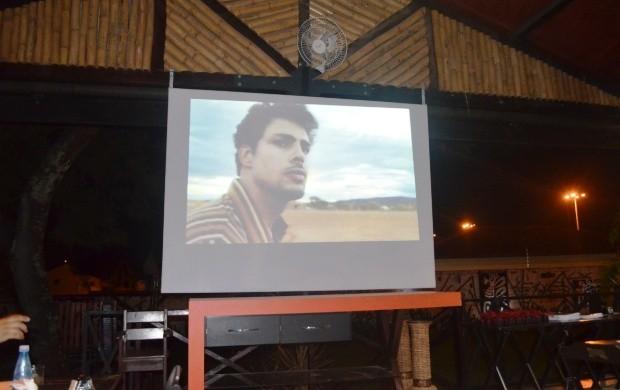 """Apresentação do clipe da minissérie """"Amores Roubados"""" (Foto: Bruna Alves/G1)"""