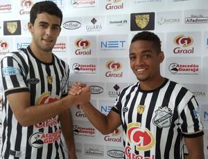 Mineiro e Josué 'genéricos' querem repetir sucesso da dupla do São Paulo (Foto: João Vitor/ Divulgação Inter de Limeira)