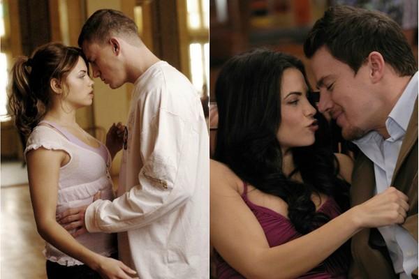 Casados na vida real, Channing Tatum e Jenna Dewan se conheceram nas filmagens de 'Ela Dança, Eu Danço', em 2006, e voltaram a trabalhar juntos em 2011, no filme produzido por Tatum, '10 Anos de Pura Amizade' (Foto: Divulgação)