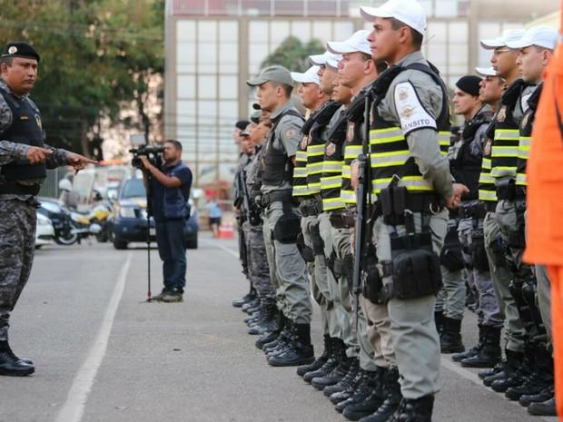Ao todo, 373 agentes da Segurança foram convocados para reforçar o policiamento (Foto: Gleilson Miranda/Secom Acre)