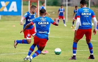 Elenco do Bahia tem manhã de treino físico e técnico no Fazendão