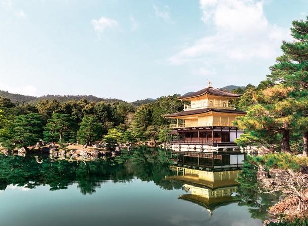 Em Tókio, no Japão, o Templo Kinkakuji é todo feito de ouro. O país é o favorito de Paulo (Foto: Paulo Del Valle/Divulgação)