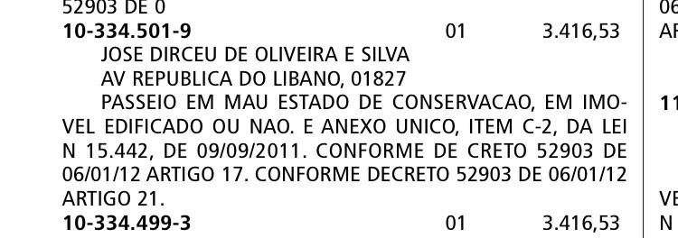 Prefeitura de São Paulo multa empresa de José Dirceu por calçada mal conservada (Foto: Reprodução)