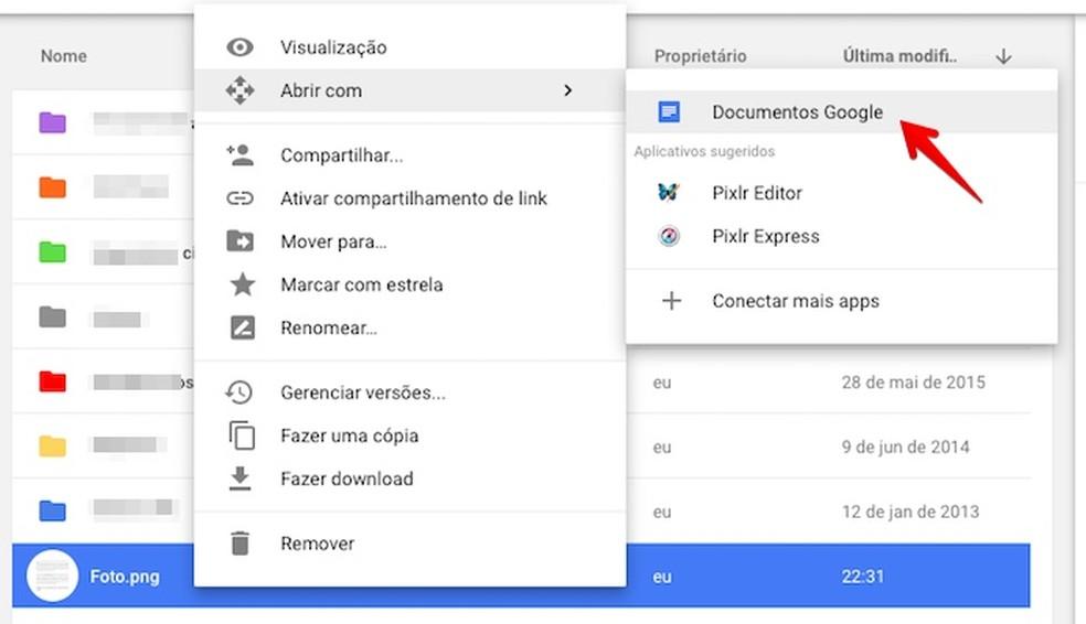 Abra o arquivo com o app de documentos (Foto: Reprodução/Helito Bijora)