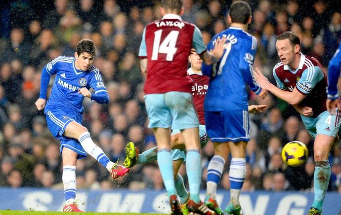 Oscar jogo Chelsea e West Ham (Foto: Getty Images)