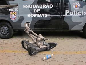 Robô (Foto: Kleber Tomaz / G1)