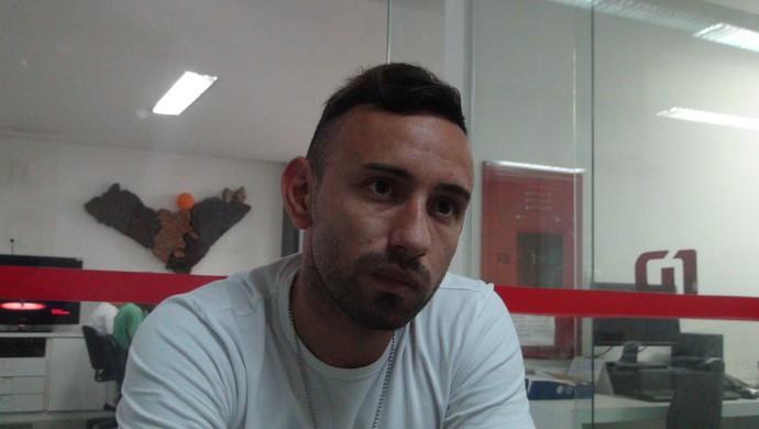 Marcelo Cañete, meia do CRB (Foto: Nívio Dorta / GloboEsporte.com)