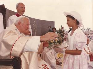 Exposição permanente dedicada a visita do Papa João Paulo II à Mato Grosso (Foto: Divulgação)