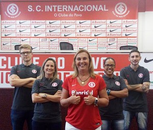 Comissão técnica futebol feminino Inter Duda (Foto: Kelly Bandeira/DKF Comunicação)