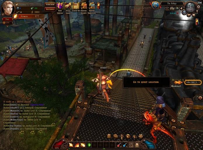 Em City of Steam: Arkadia a interface se torna mais poluída de comandos conforme o jogador progredir (Foto: Reprodução/Daniel Ribeiro)