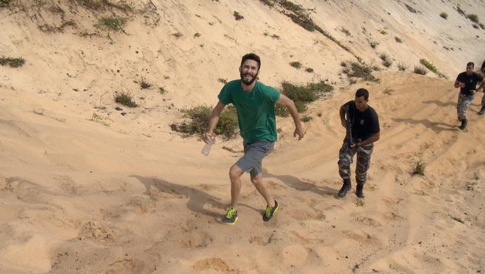 Fafá desafiou Diego Araujo a correr com o BME (Foto: Divulgação / TV Gazeta ES)