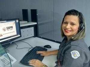Policial que ajudou a fazer o parto pelo 190 (Foto: Polícia Militar/Divulgação)