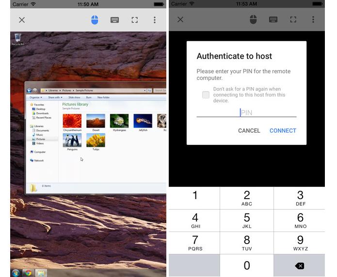 App Google Remote Desktop monitora remotamente um computador por meio de um dispositivo iOS (Foto: Divulgação)