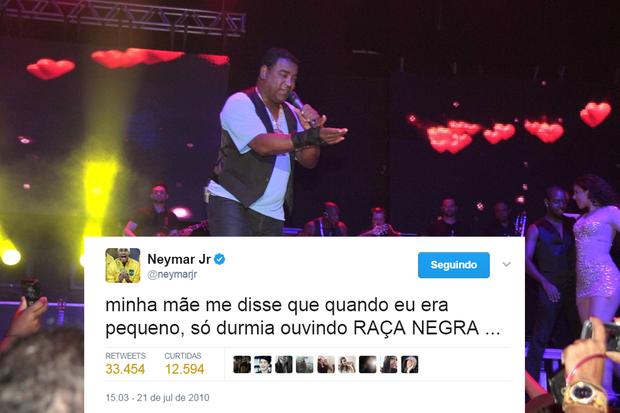 Tweet de Neymar (Foto: Reprodução/Twitter)