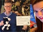Mulher participa de amigo secreto na web e recebe presente de Bill Gates