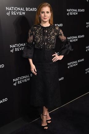 Amy Adams em evento em Nova York, nos Estados Unidos (Foto: Jamie McCarthy/ Getty Images/ AFP)