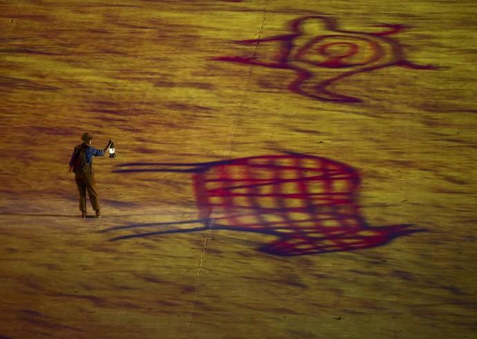 Maracanã durante cerimônia de encerramento (Foto: Reuters)