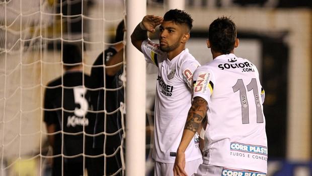 Gabriel gol Santos x Bragantino (Foto: Lucas Baptista / Ag. Estado)