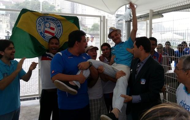 Jorge Maia, torcedor do Bahia (Foto: Raphael Carneiro)