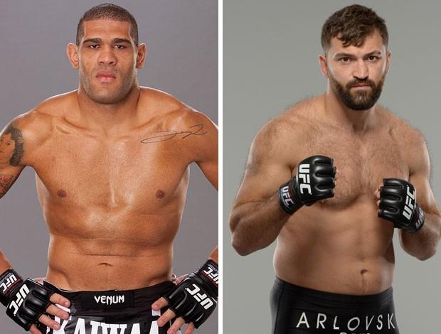 Montagem Antônio Pezão x Andrei Arlovski UFC MMA (Foto: Montagem sobre foto da Getty Images)
