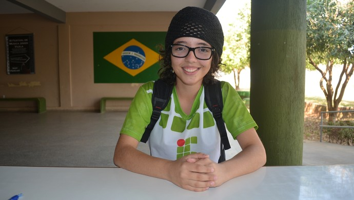 Enxadristra de 16 anos quer mais um título do Joer em Ji-Paraná (Foto: Roger Henrique)