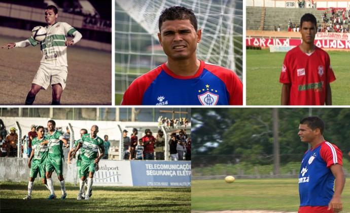 Jajá passou por clubes de Sergipe e da Bahia (Foto: Montagem/Osmar Rios)