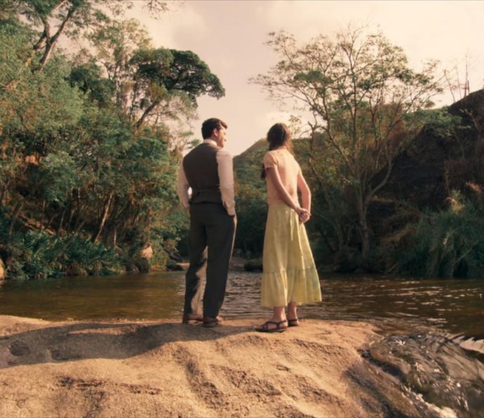 Romeu e Mafalda conhecem as belas paisagens da fazenda Dom Pedro II (Foto: TV Globo)