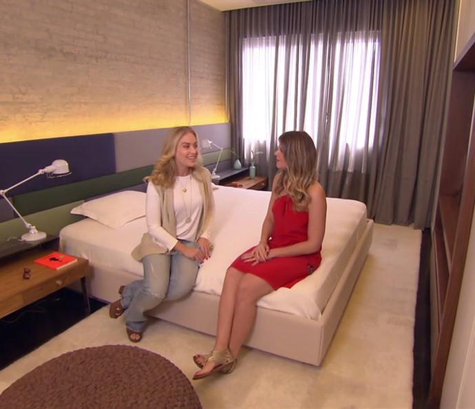 Angélica conhece o quarto do casal (Foto: TV Globo)