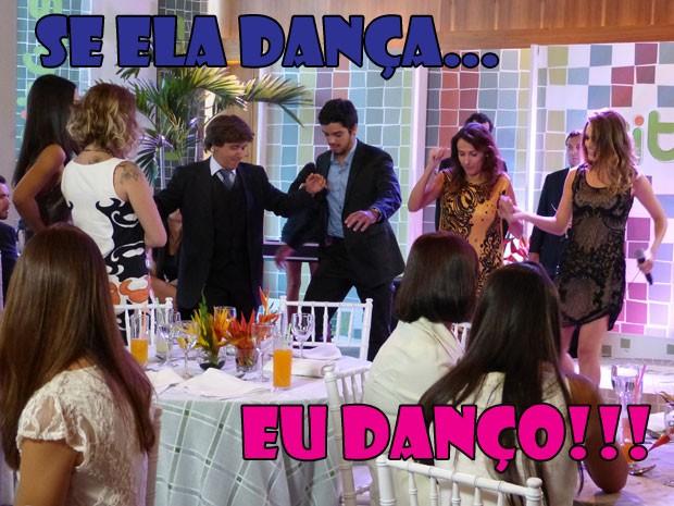 Pancadão na fextchena da Citrus! Todo mundo indo até o chão, chão, chão... (Foto: Malhação / Tv Globo)