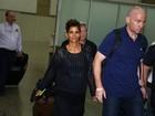 Halle Berry chega ao Rio para divulgar filme
